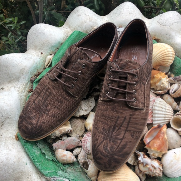 the best attitude 71a94 66249 Ferro Aldo Palm Tree Brown Lace Up Loafers
